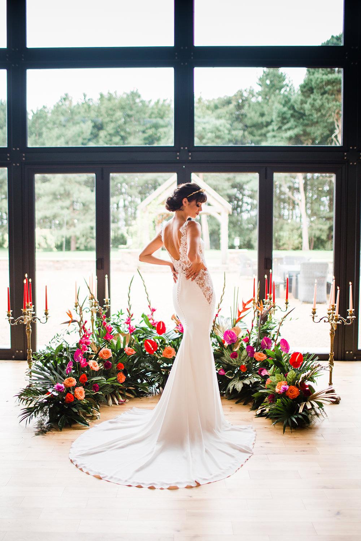 Tropical Flowers Pink Orange Lily Jungle Wedding Ideas Terri Pashley Photography