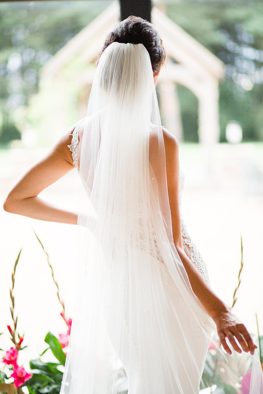Dress Gown Bride Bridal Veil Jungle Wedding Ideas Terri Pashley Photography