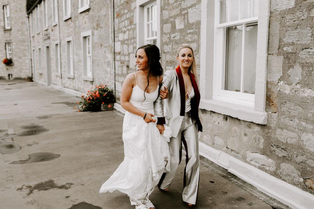 Dress Gown Bride Bridal Skirt Top Bohemian Orocco Pier Wedding Meggy Mac Photography