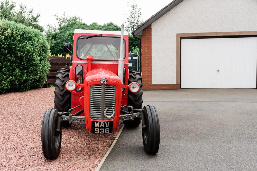 Tractor Transport Scotland Garden Wedding LJ Horton Photography
