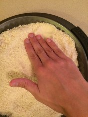 Time to press the dough in.