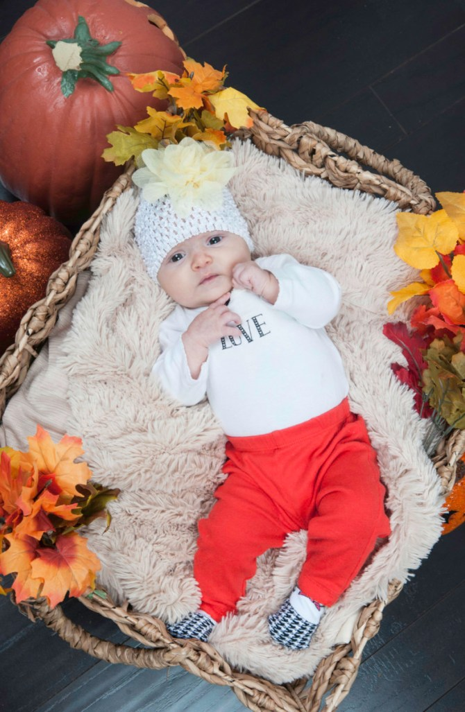 fall baby photography