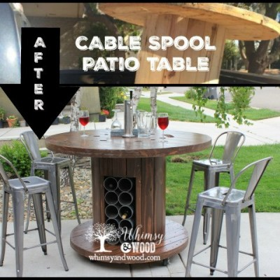 How to Make This Cable Spool Patio Set