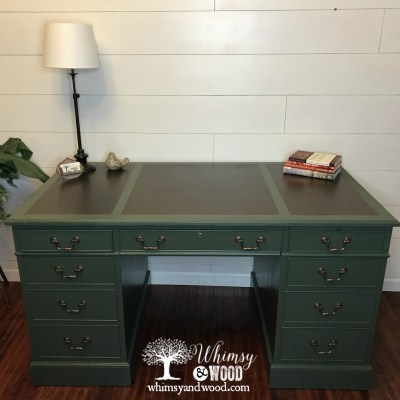 How to: Faux Leather Desk Top with Paint