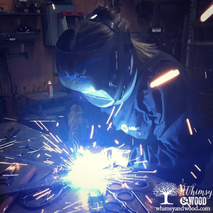 Learning to Weld with Gina Rossi-We working on my project