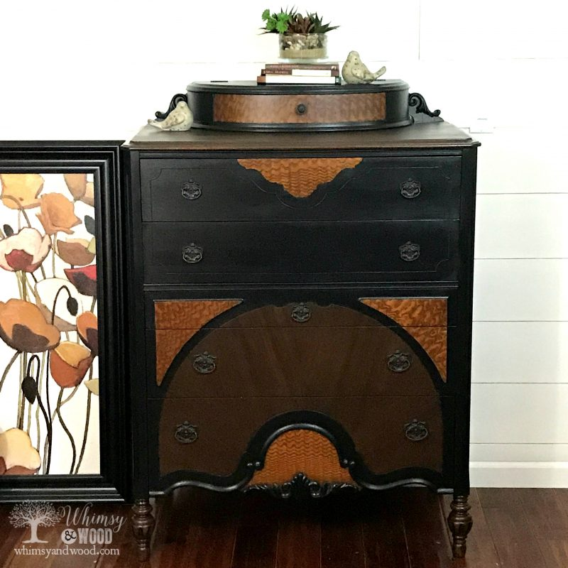 Gorgeous painted dresser using Pure Home Paints. Painted by Whimsy and Wood.