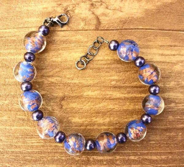Blue Copper Bracelet