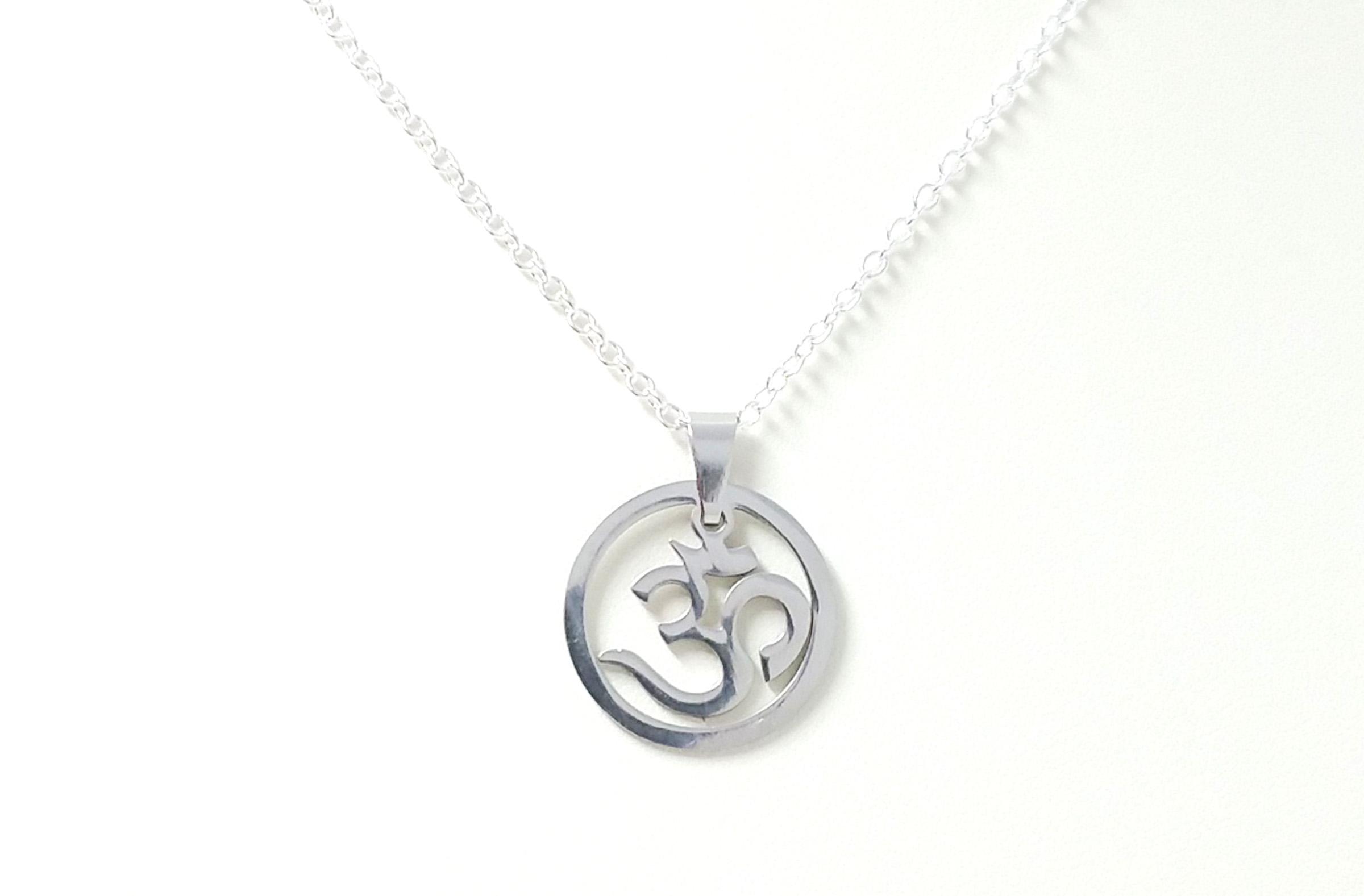 Om symbol pendant necklace whimsy gift shop om pendant necklace aloadofball Gallery