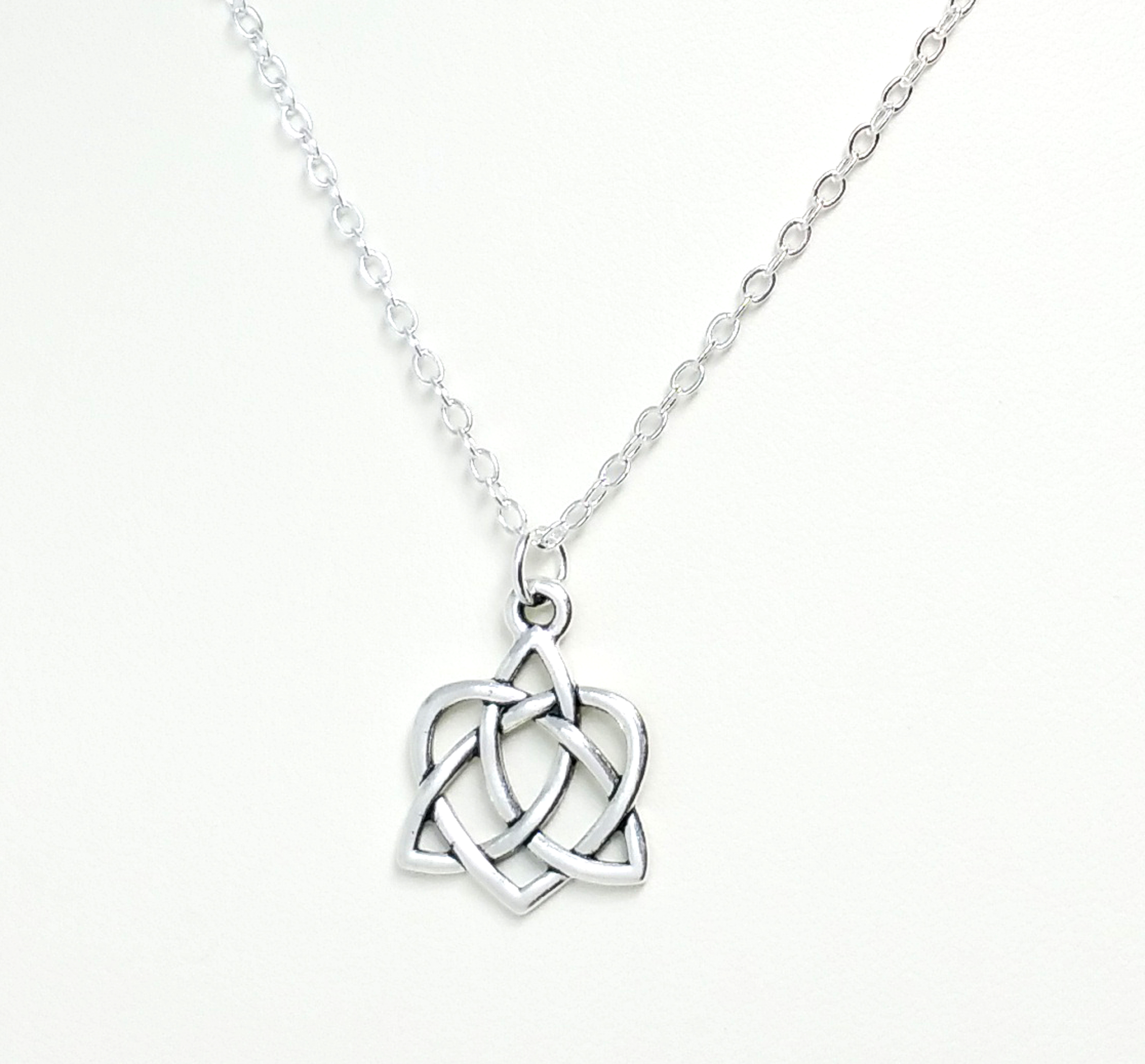 celtic leaf pendant design steel stainless three clover necklace