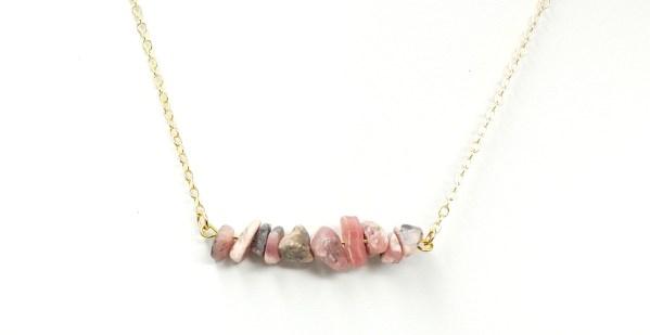 Rhodochrosite Stone Necklace