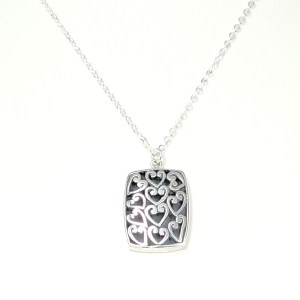 Silver Sterling Hearts Pendant