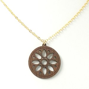 cathedral window necklace