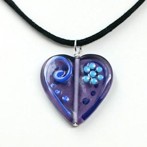 Czech Glass Heart Necklace