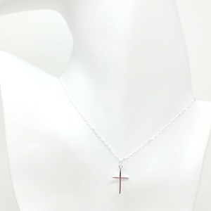 sterling silver thin cross