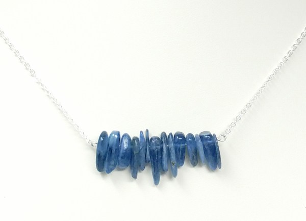 kyanite hawaiin chip necklace