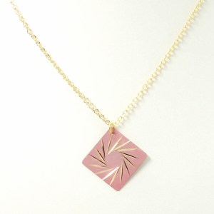 Pink Spiral Star Pendant Necklace