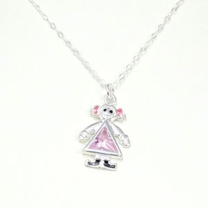 Sterling Silver Little Girl Necklace