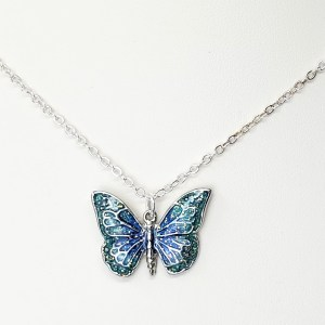 Children's Blue Butterfly Necklace