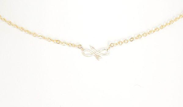 Dainty Infinity Arrow Necklace