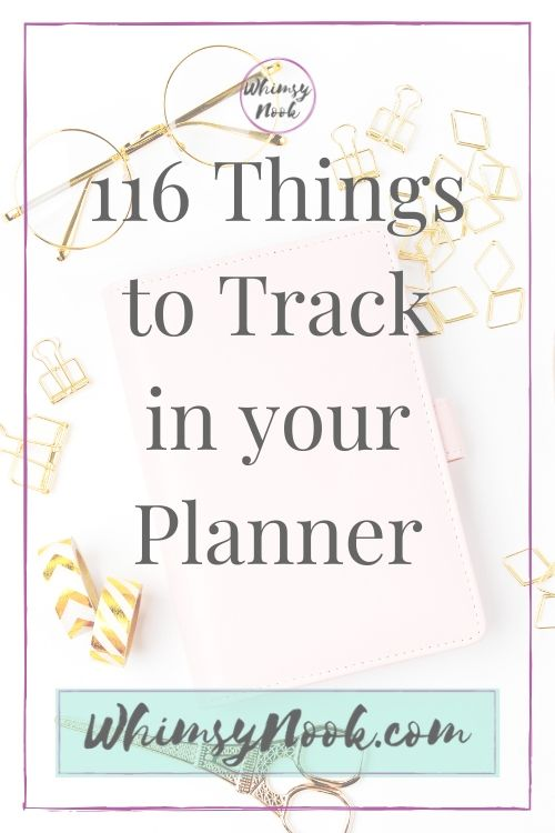 116 Things to Track in Your Planner Title Image