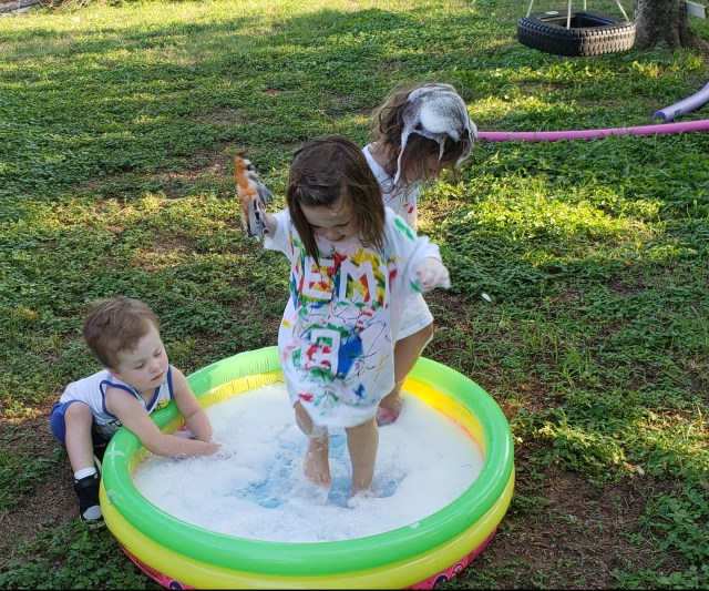 Bubble Pool Party Activity
