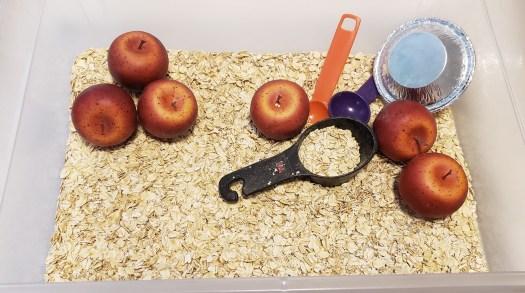 Apple Pie Sensory Bin