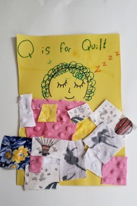 Q is for Quilt sewing project for preschoolers