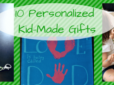 10 personalize kid-made gifts