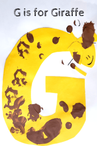 Alphabet Craft the letter G as a Giraffe