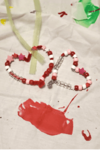 Beaded Pipecleaner Hearts Valentine's Day Craft