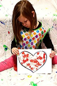 Tissue Paper Heart Valentine's Day Craft