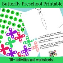 Butterfly Preschool Printable