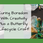 Curing Boredom With Creativity Plus–A Butterfly Lifecycle Craft