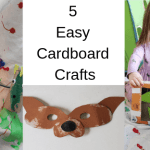 5 Easy Cardboard Crafts For Kids and Adults