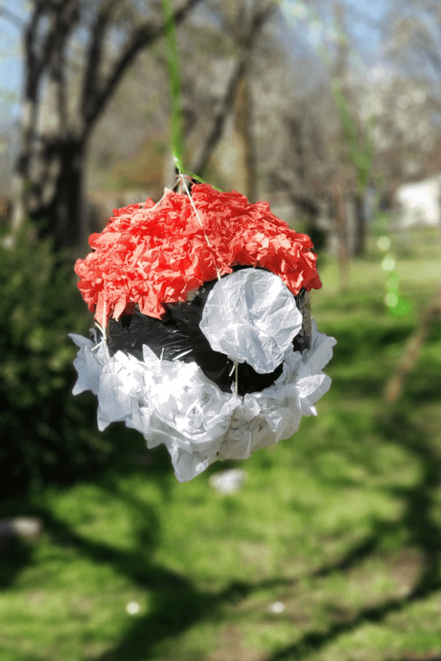 DIY Pokemon Pokeball Pinata