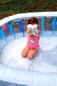 bubbles in a kiddie pool