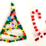 Pipe Cleaner Christmas Ornaments for Preschoolers