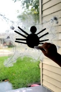 Spider Contact Paper Halloween Craft