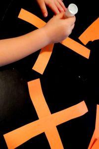 paper pumpkin craft make an X