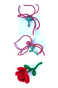 pipecleaner rose tutorial