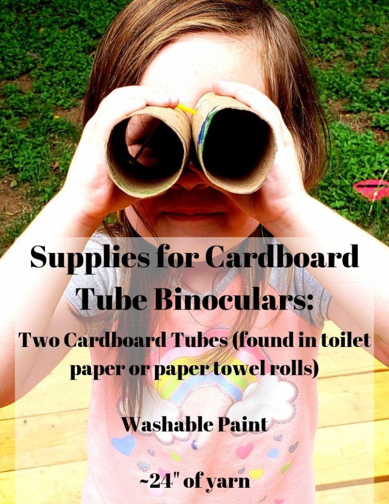 Supplies for cardboard tube binoculars