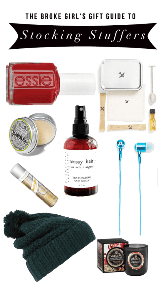 A Broke Girl's Gift Guide: Stocking Stuffers Under $25