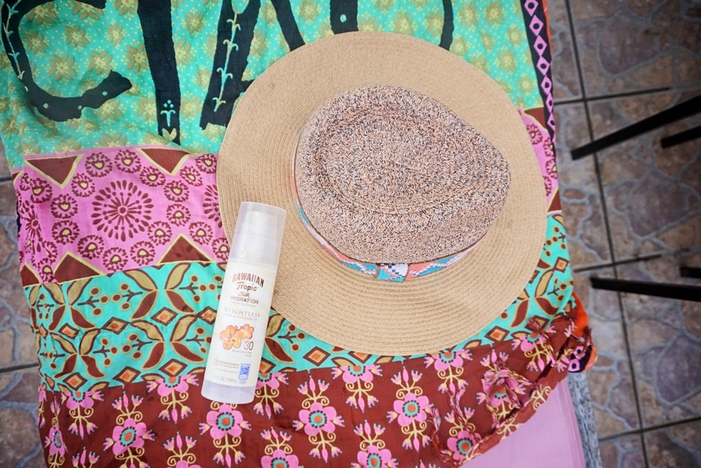 Protecting skin on vacation