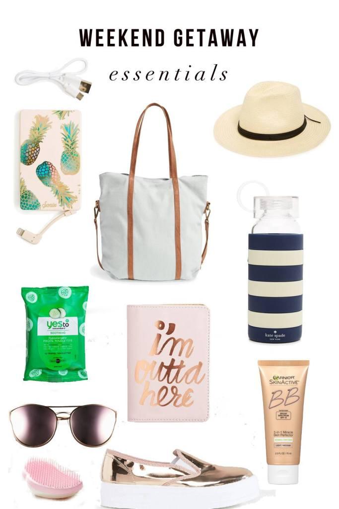 My Favorite Weekend Getaway Essentials