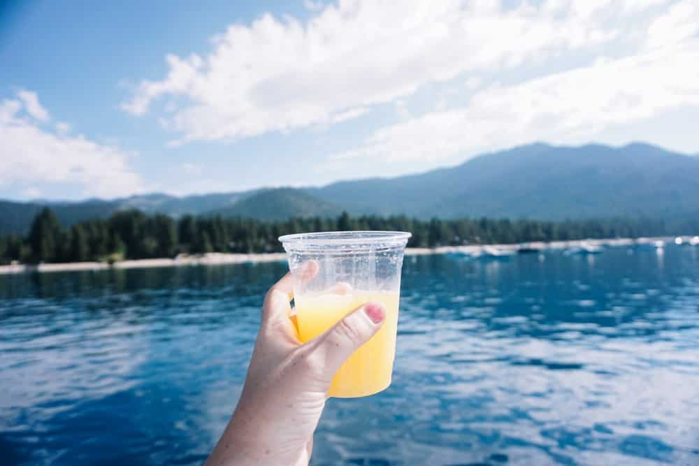 Mimosa brunch sailing lake tahoe