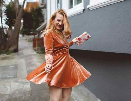 Peach urban outfitters dress, 10 fun holiday dresses