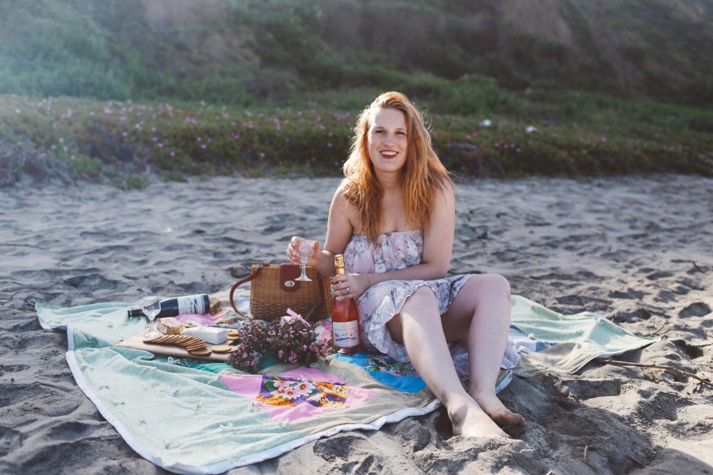 Treat Yo' Self with French Wine On the Beach
