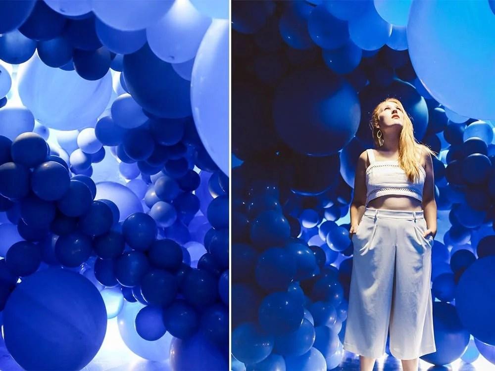 Color Factory blue balloon room san francisco