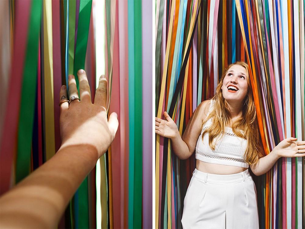 Color Factory ribbon room san francisco