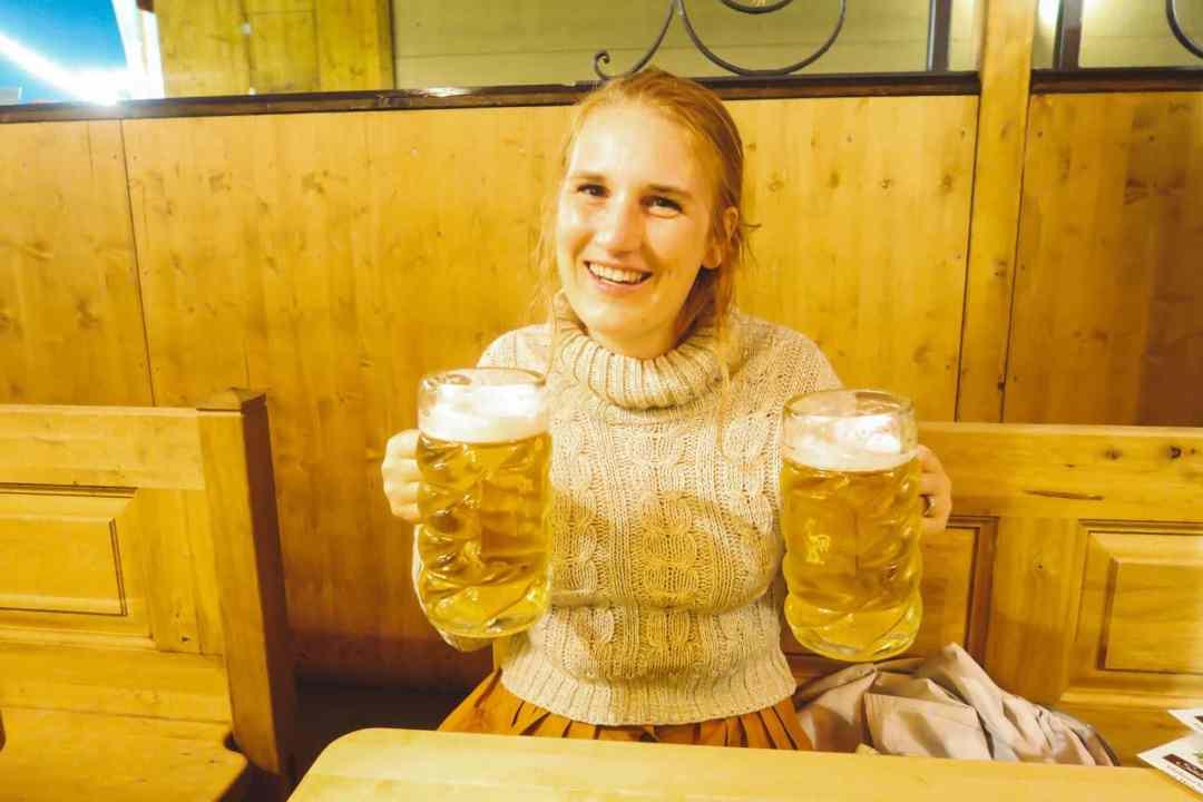 Oktoberfest Munich woman holding beer